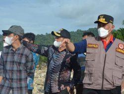 Apt. Rudi Hariansyah Dampingi Gubernur Sumbar Tinjau Lokasi Banjir Bandang Kec. Rahul & Bab di Tapan